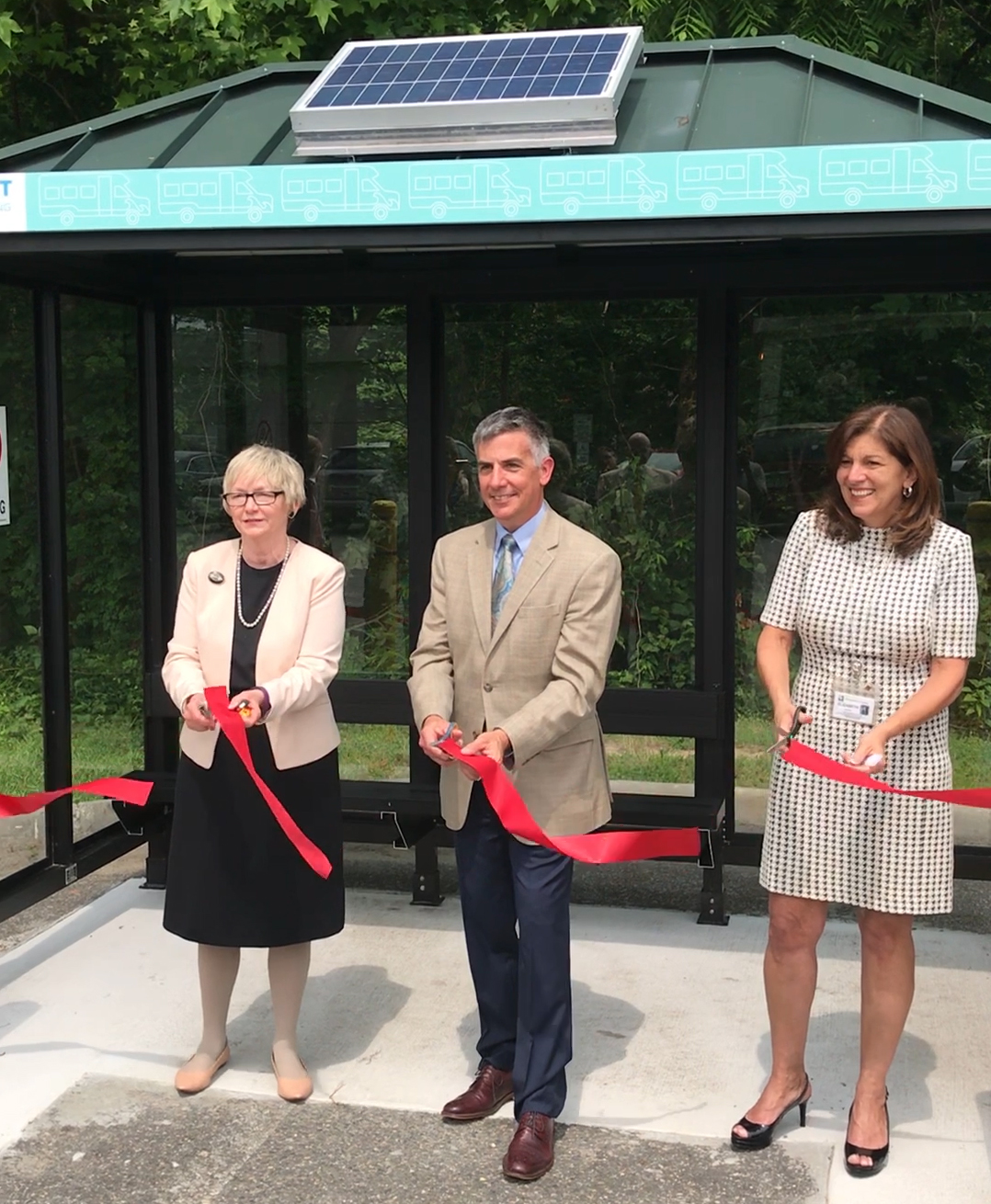 Ribbon Cutting Ceremony Bay Transit Bus Stop 6-15-2019