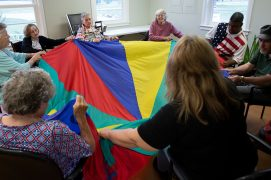 Bay Aging adult day care group activity