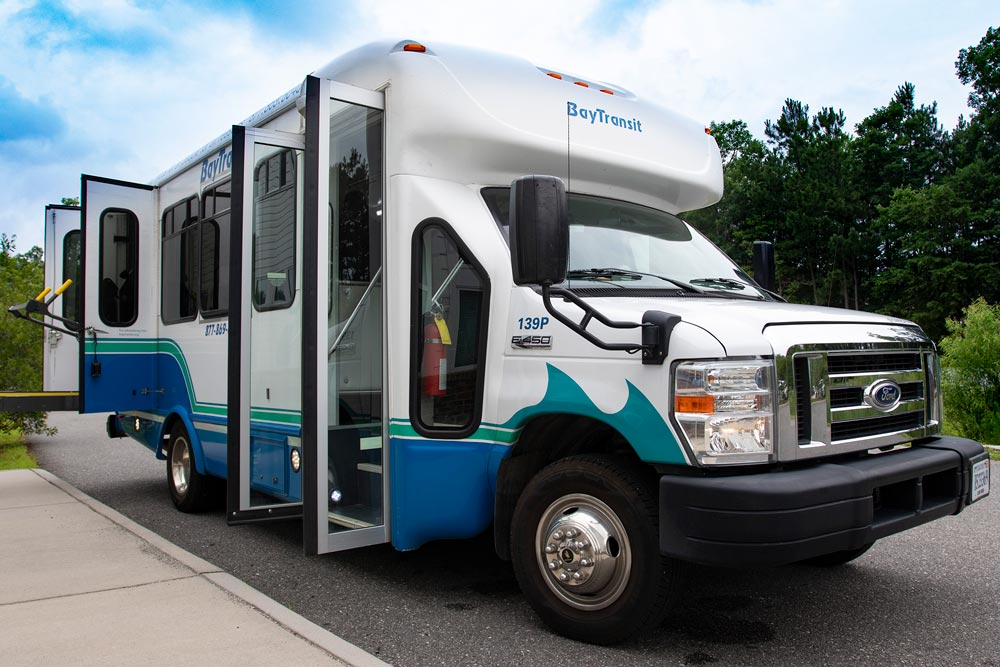 Bay Transit bus with open doors