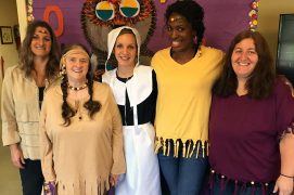 Bay Aging Adult Day Care Center staff costumes