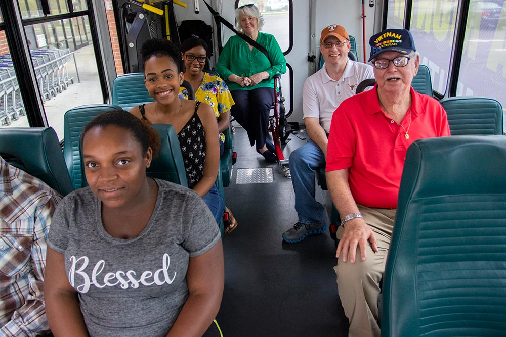 Bay Transit passengers on bus