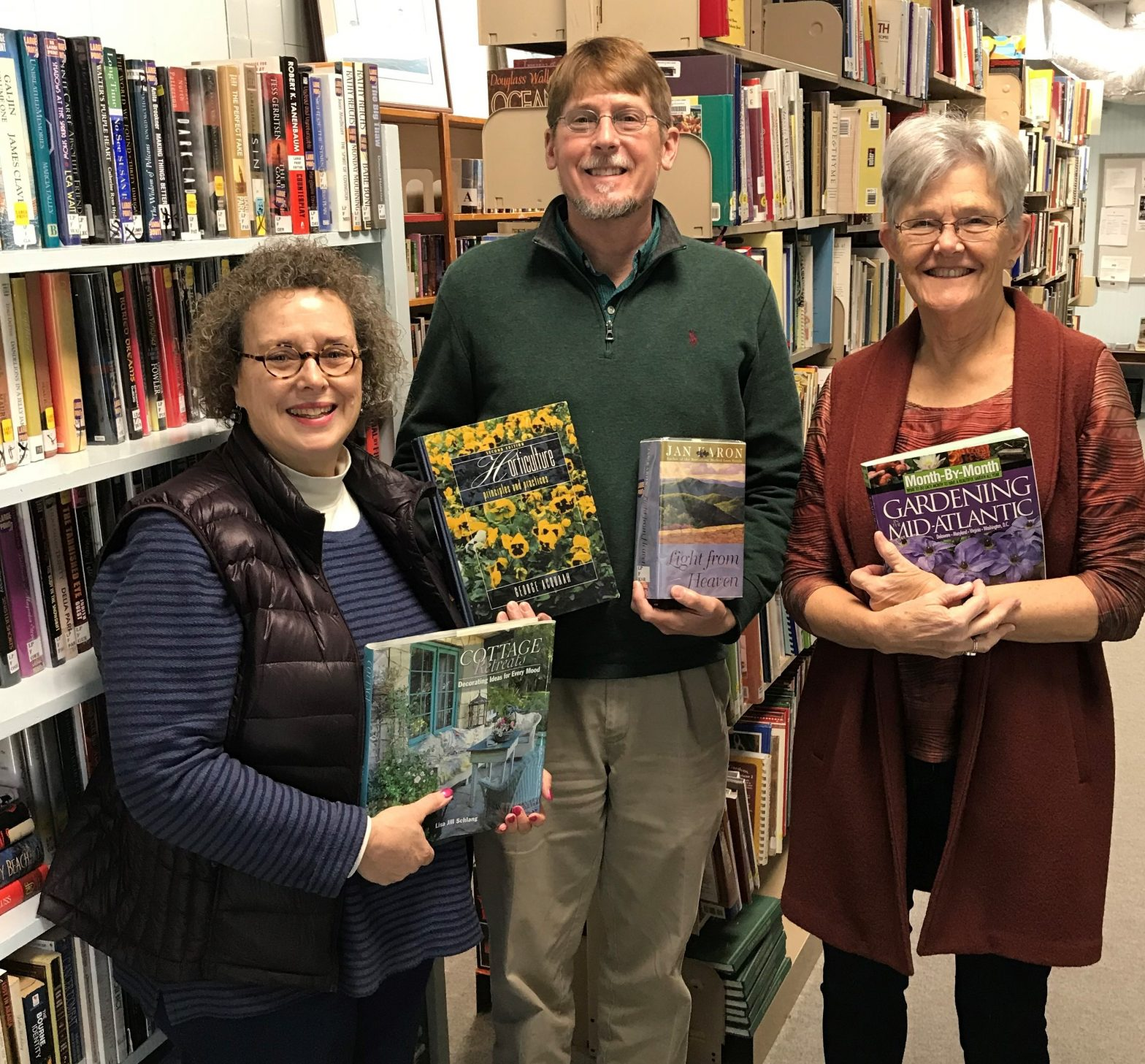 Mrs. Melissa MacKimm, Friends of the Deltaville Library's President; Michael Norvell, Bay Aging's Vice President of Development and Marketing; Mrs. Pat Anderson, Friends of the Deltaville Library's Vice President.