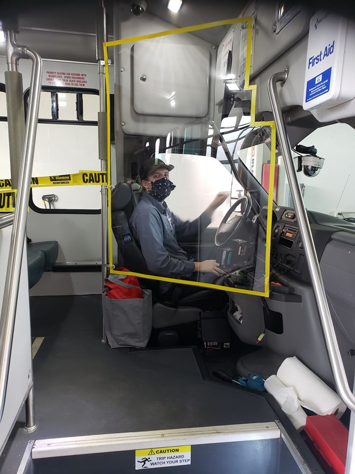 Inside of Bus and Driver