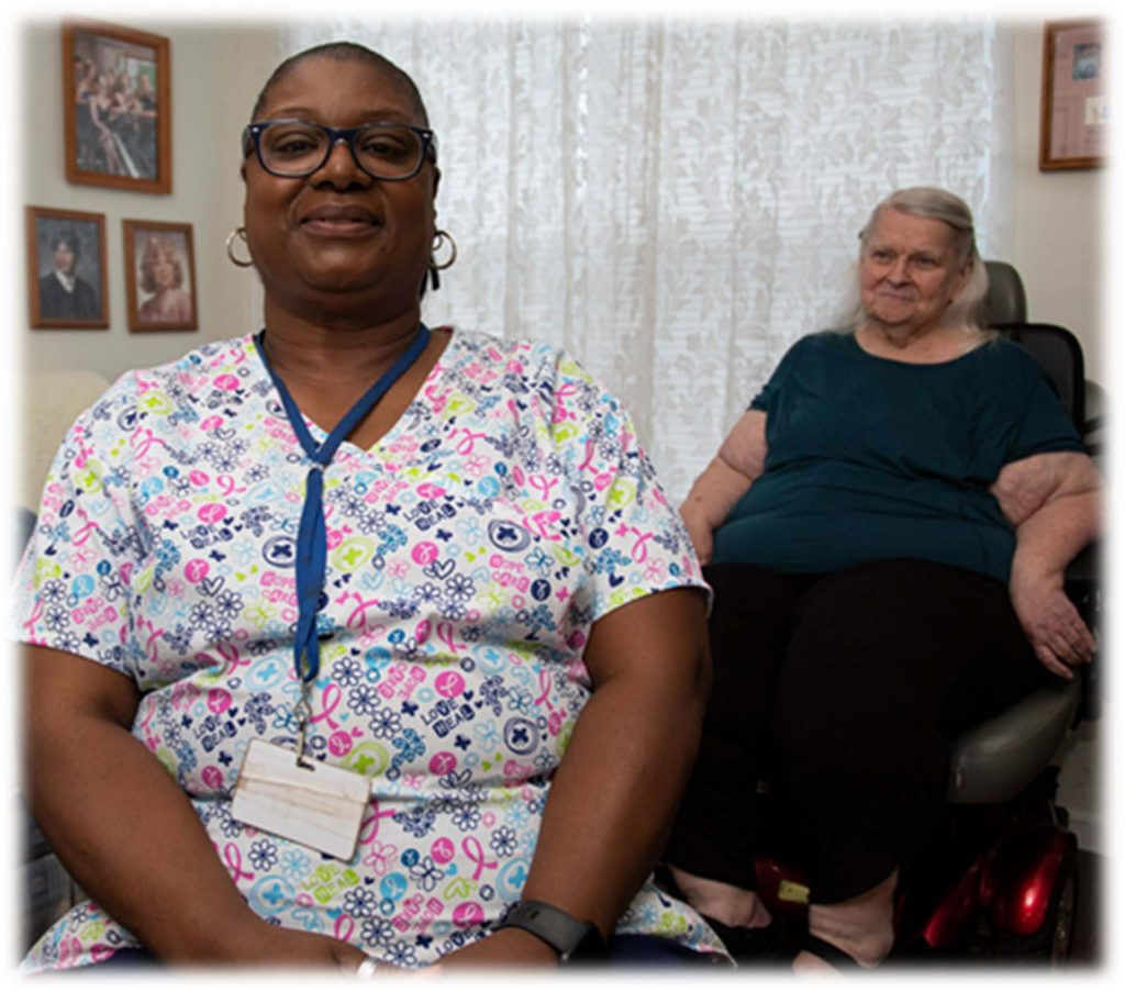 Home Health Aide with Client